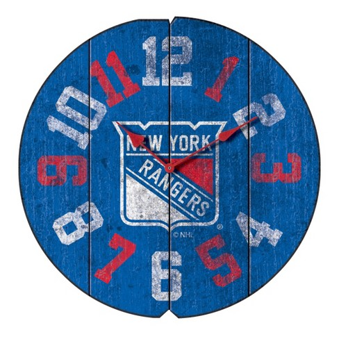 big sale 3cf43 9bf67 NHL New York Rangers Vintage Round Clock