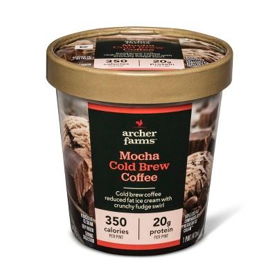 Mocha Cold Brew Coffee Reduced Fat Ice Cream with a Fudge Swirl - 16oz - Archer Farms™