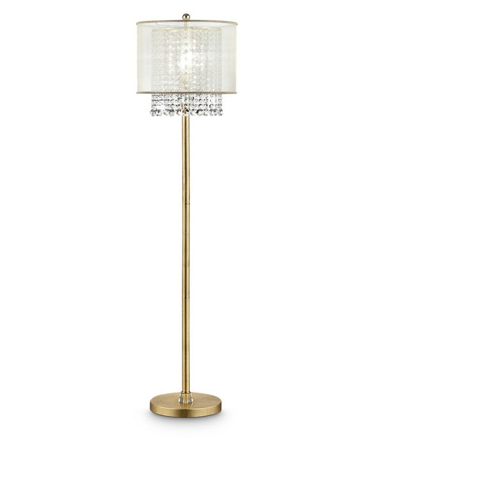 Image of Bhavya Crystal Floor Lamp Bronze (Includes Energy Efficient Light Bulb) - Ore International, Golden Bronze