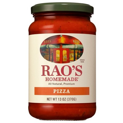 Rao's Homemade Classic Pizza Sauce Premium Quality All Natural Keto Friendly Slow-Simmered - 13oz