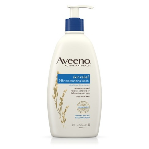 Unscented Aveeno 24hr Skin Relief Moisture Lotion - 18 fl oz - image 1 of 8