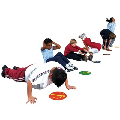 Sportime Fit-Spots, 9 Inches, Assorted Colors, set of 12