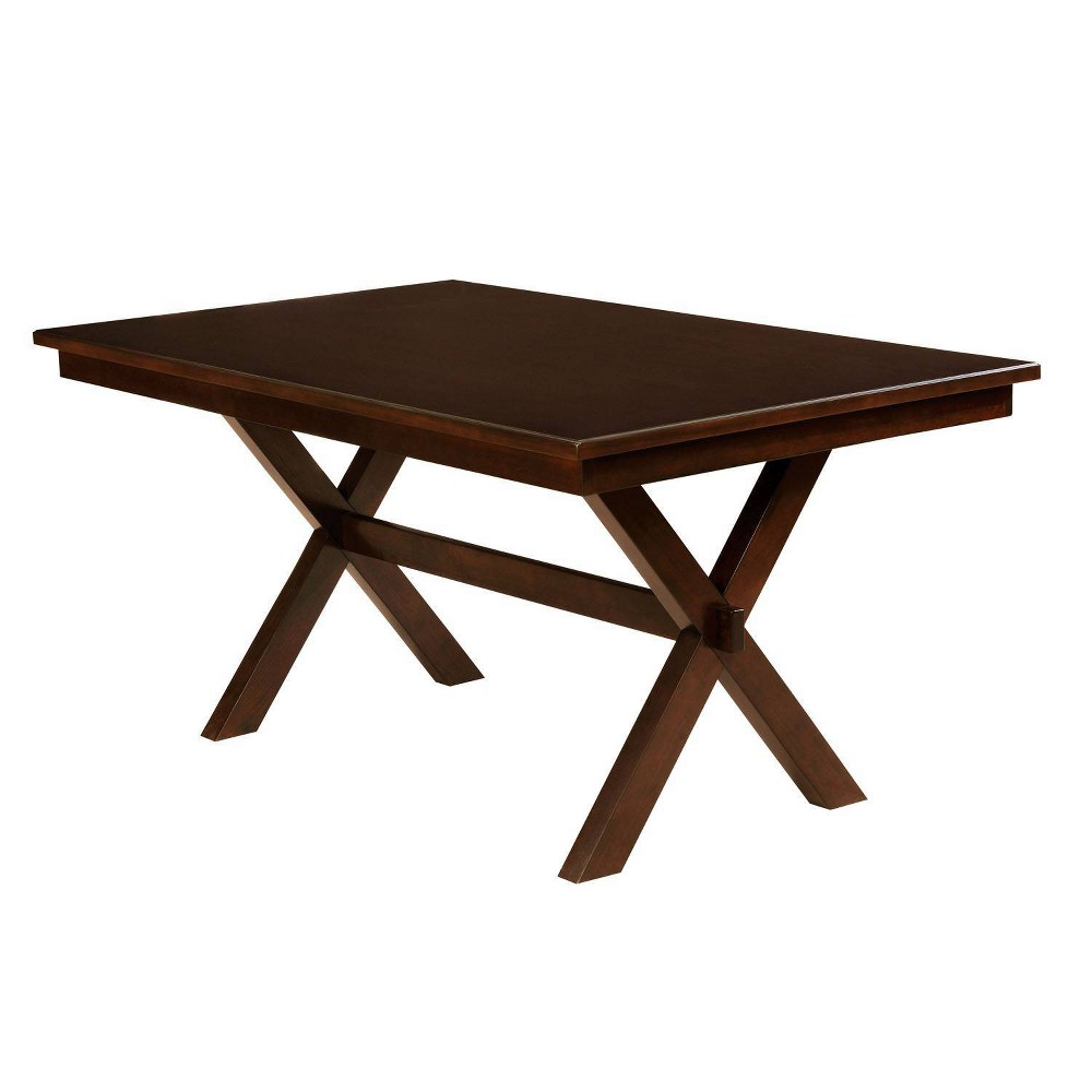 """Image of """"60"""""""" Arga Transitional Wood Dining Table Cherry - HOMES: Inside + Out"""""""