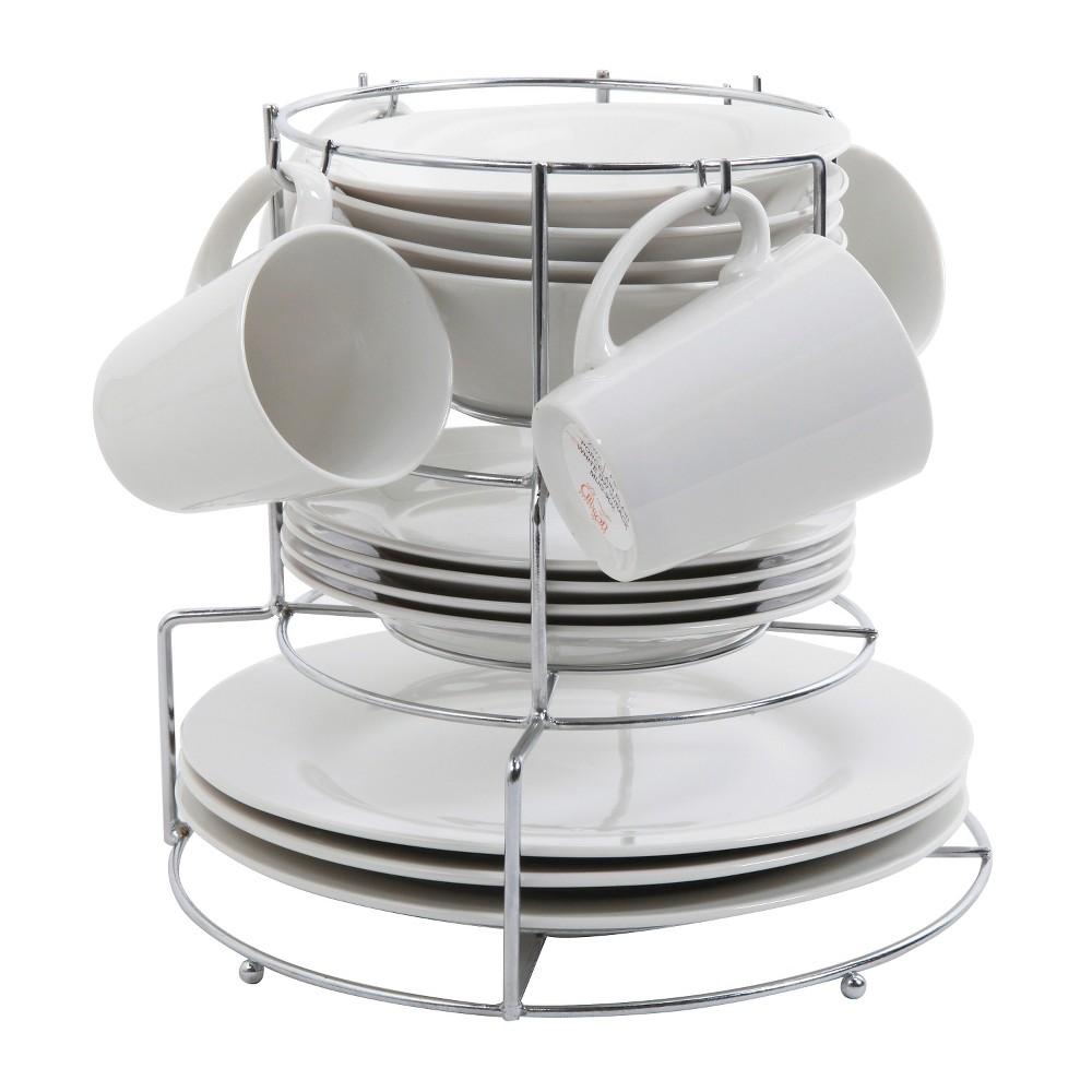 Gibson Cafe Monte 17pc Dinnerware Set White