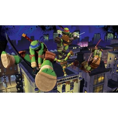 6'x10.5' Teenage Mutant Ninja Turtles Cityscape Chair Rail Prepasted Mural Ultra Strippable - RoomMates