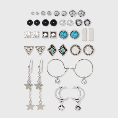 Moon and Star Multi Earring Set 18pc - Wild Fable™