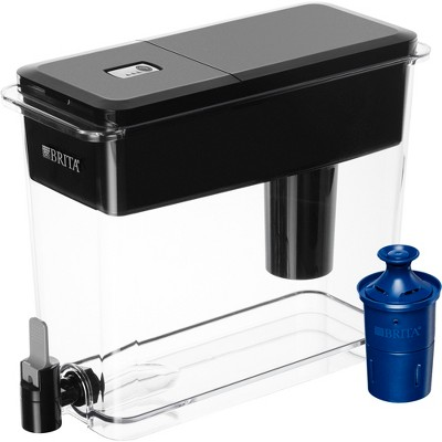 Brita Extra Large 18 Cup BPA Free Water Dispenser with 1 Longlast Filter - Jet Black
