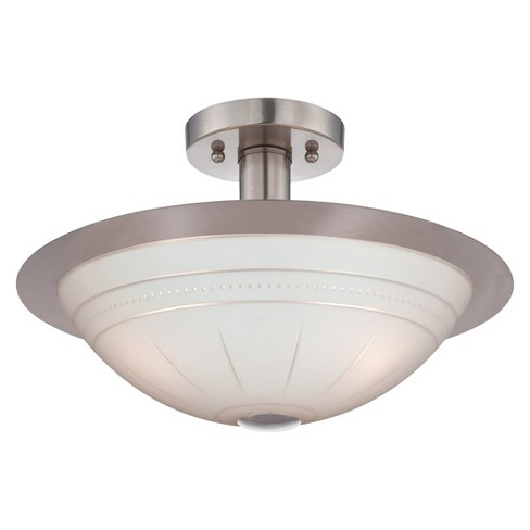 Lite Source Fraley Semi-flush Mount Ceiling Light - Silver - image 1 of 1