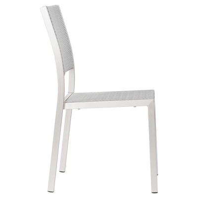 Contemporary 2pk Brushed Aluminum Stackable Dining Chair   ZM Home : Target