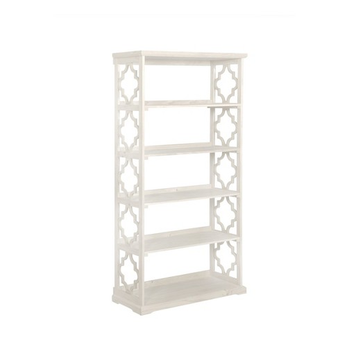 'Anthony 72'' 5 Shelf Painted Bookcase White - Powell Company, Natural/Ivory'