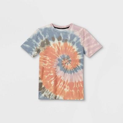 Boys' Tie-Dye Short Sleeve T-Shirt - art class™ Orange