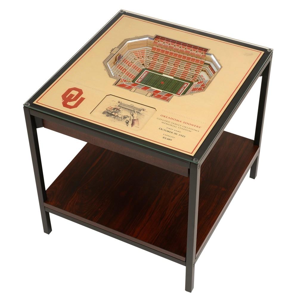 NCAA Oklahoma Sooners 25 Layer Lighted StadiumView End Table