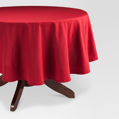 Ruby Red Round Solid Tablecloth 70  - Threshold™