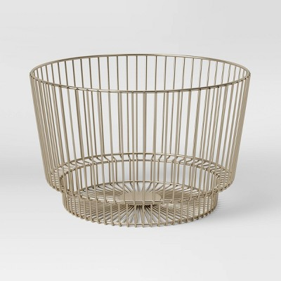"18"" x 11"" Decorative Metal Basket with Silver Finishing - Project 62™"