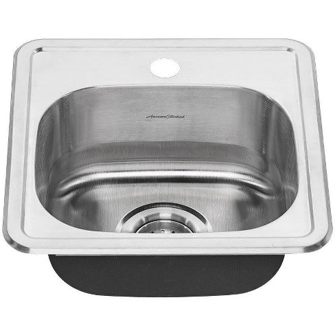 Fine American Standard 22Sb 6151511S Colony 15 Single Basin Stainless Steel Kitchen Sink For Drop In Installations Complete Home Design Collection Lindsey Bellcom