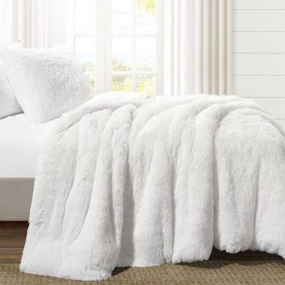Emma Faux Fur Comforter Set - Lush Décor
