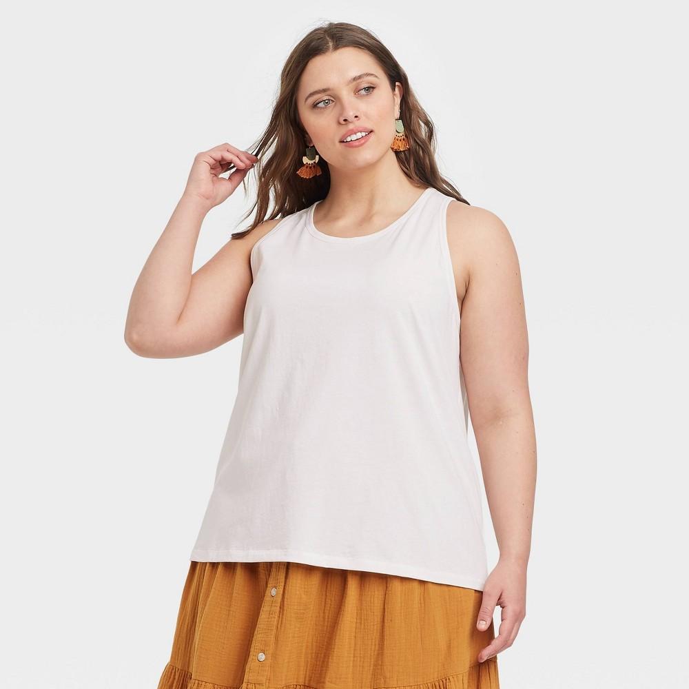 Women 39 S Plus Size Tank Top Universal Thread 8482 White 3x