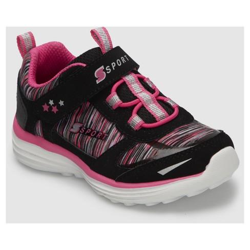 9b2984583af7 Toddler Girls  S Sport By Skechers Tyro Athletic Shoes - Black Pink ...