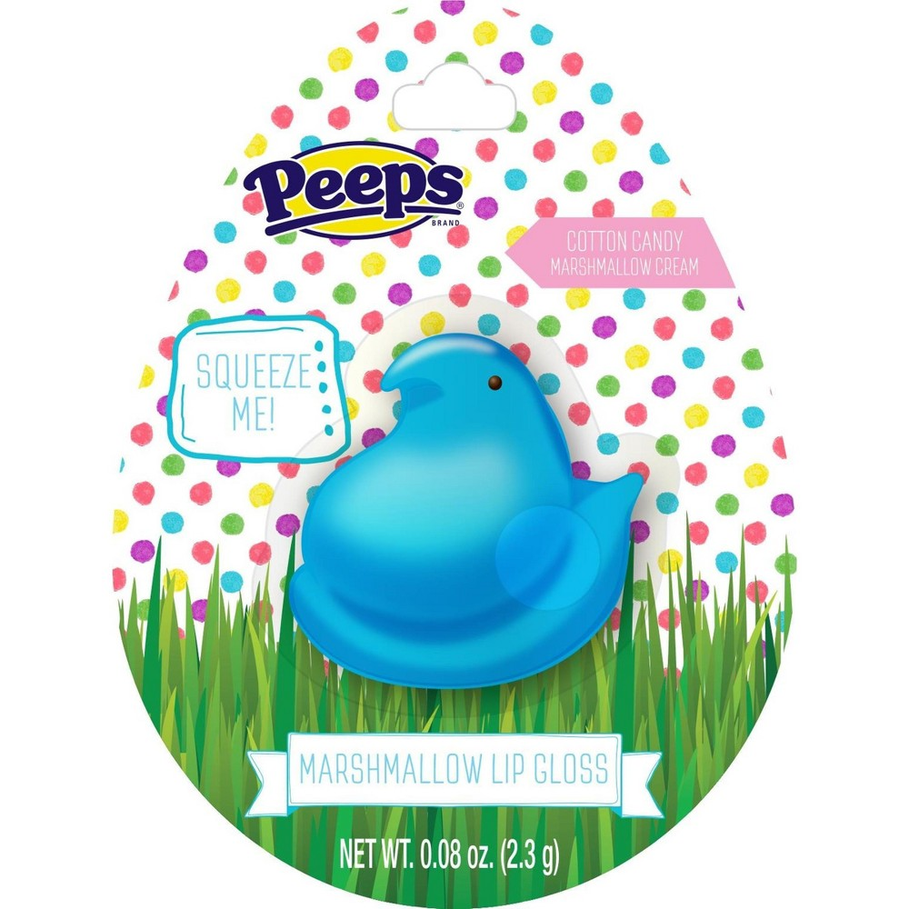 Peeps Squishy Lip Balm Bunny Blue - 0.08oz, Multi-Colored