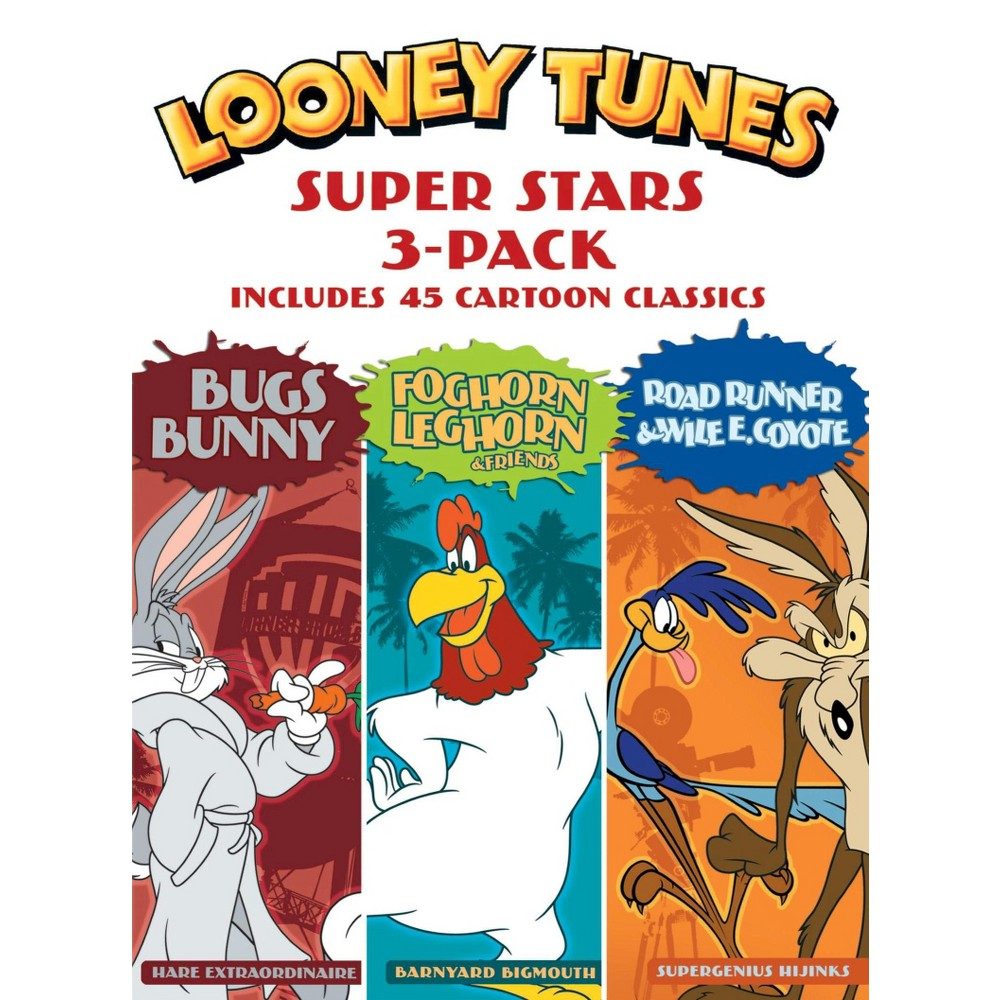 Looney Tunes Super Stars 3 Pack Bugs Bunny Foghorn Leghorn 38 Friends Road Runner 38 Wile E Coyote Dvd