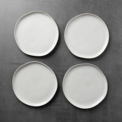 4pk Stoneware Dinner Plate Cream - Hearth & Hand™ with Magnolia