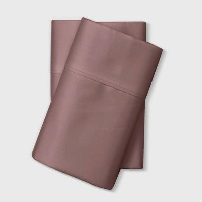 King 800 Thread Count Solid Performance Pillowcase Set Mauve - Threshold Signature™