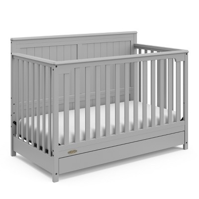Graco Hadley 4-in-1 Convertible Crib with Drawer - Pebble Gray