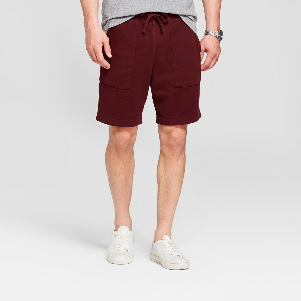 Men's 11 Standard Fit Sensory Friendly Lounge Shorts - Goodfellow & Co Pomegranate Mystery XL