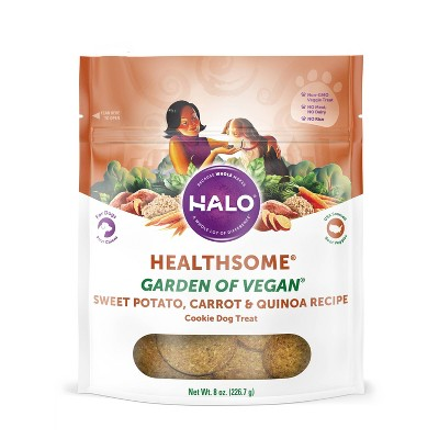 Halo Healthsome Garden of Vegan Sweet Potato Cookie Dry Dog Treat - 8oz