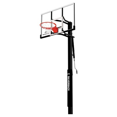 "Silverback B5400W In-Ground 54"" Glass Basketball Hoop System"