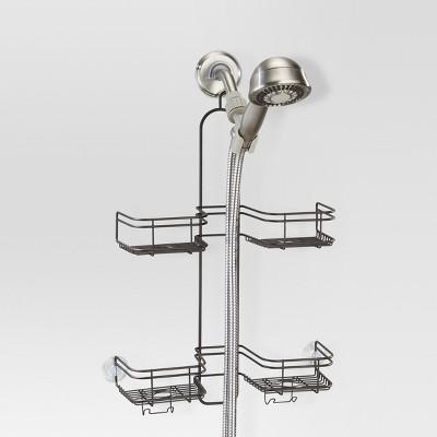 Bathroom Hose Shower Caddy Bronze - Threshold™