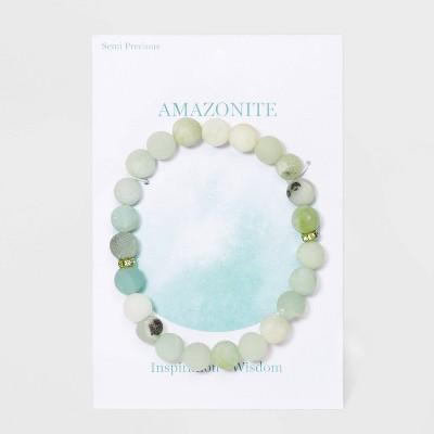 Semi-Precious Beaded Stretch Bracelet