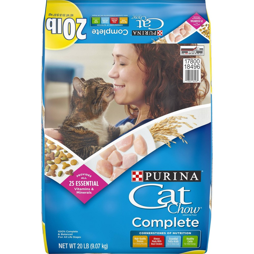 Purina Cat Chow Complete With Chicken Adult Dry Cat Food 20lbs