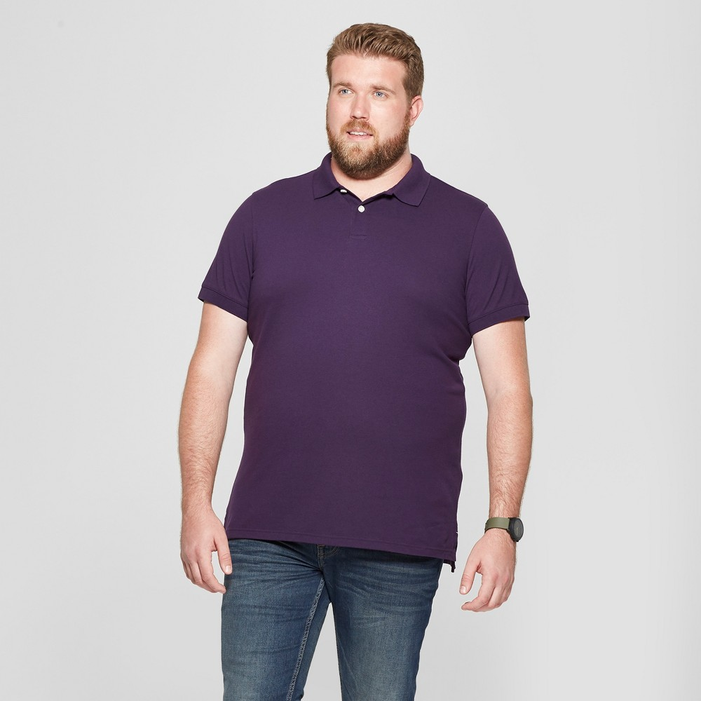 Men's Big & Tall Short Sleeve Loring Polo T-Shirt - Goodfellow & Co Purple Crest 3XB