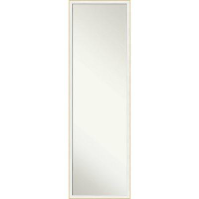 "15"" x 49"" Nordic Blonde Wood Framed Full Length On the Door Mirror White - Amanti Art"