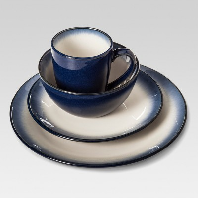 Stoneware 16pc Dinnerware Set Landon Blue - Threshold™