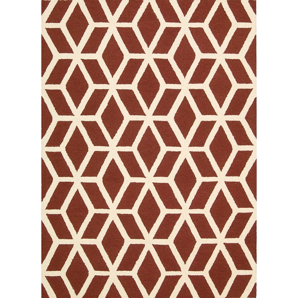 Nourison Kinetic Linear Accent Rug - Red Brick/Ivory (3'9