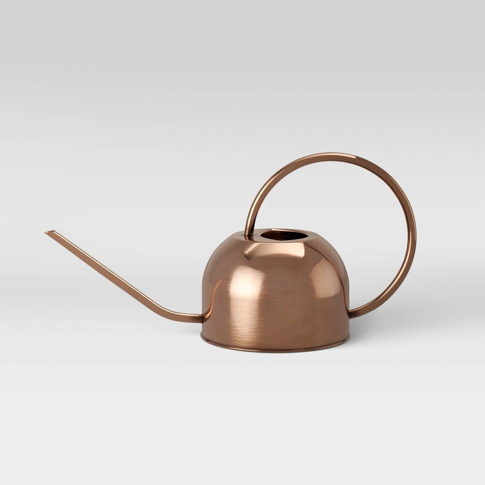 """Image of """"8"""""""" Metal Watering Can Copper Brown - Smith & Hawken"""""""