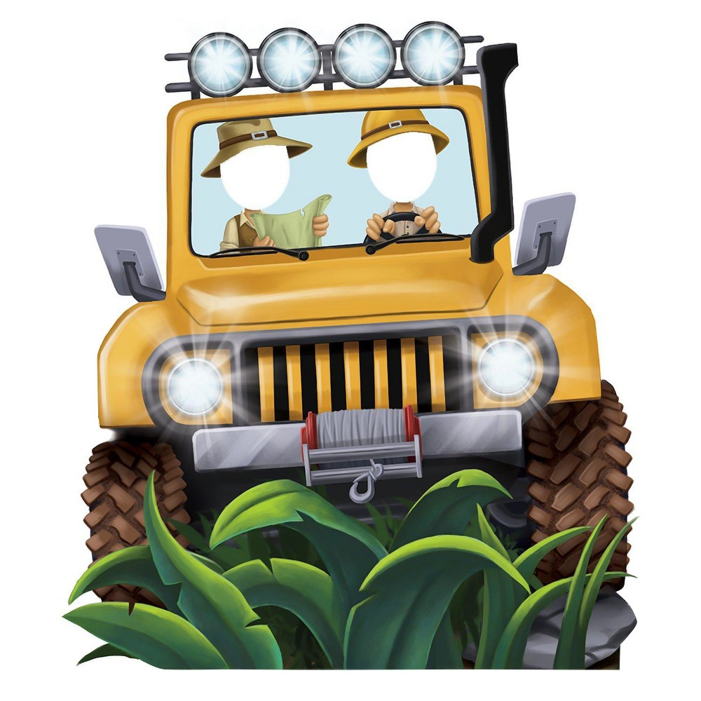 Image of Jungle Jeep Party Standee