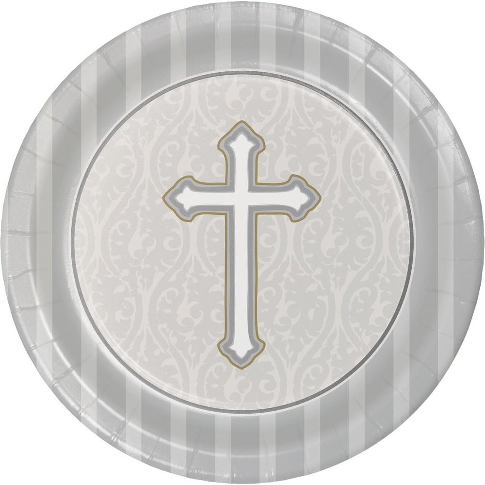 24ct Devotion Dessert Plates Silver