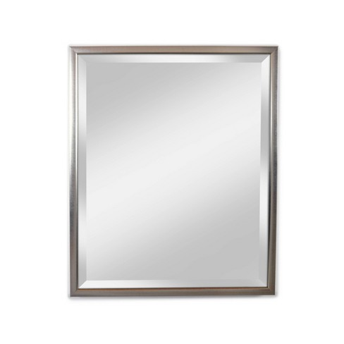 """28"""" x 34"""" Reflect Silver Framed Beveled Glass Wall Mirror - Alpine Art and Mirror - image 1 of 4"""