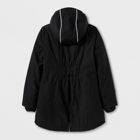 f1f1bbc95c76 Girls  Parka Jacket - C9 Champion® Black   Target