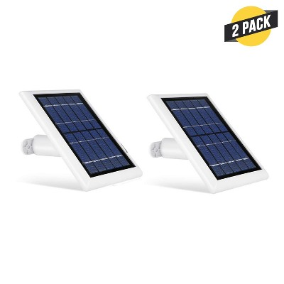 Wasserstein Solar Panel Compatible with Ring Spotlight Cam Battery and Ring Stick Up Cam Battery (2 Pack)