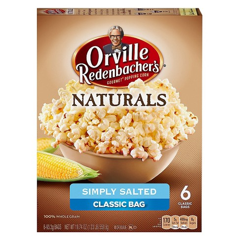 Orville Redenbacher S Natural Simply Salted Clic Bag Of Gourmet Popcorn 6ct