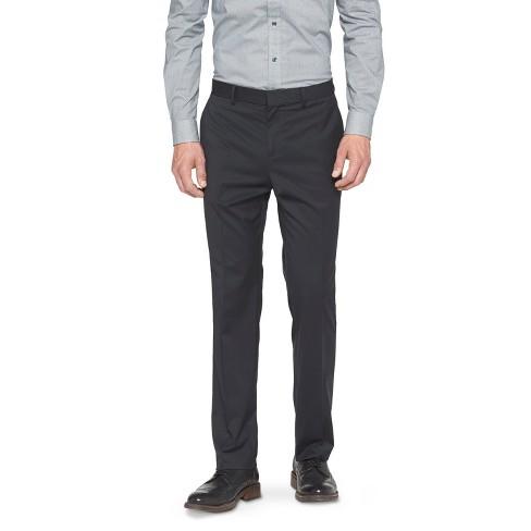 Mens Slim Fit Suit Pants Black Pinstripe 38x30 Target