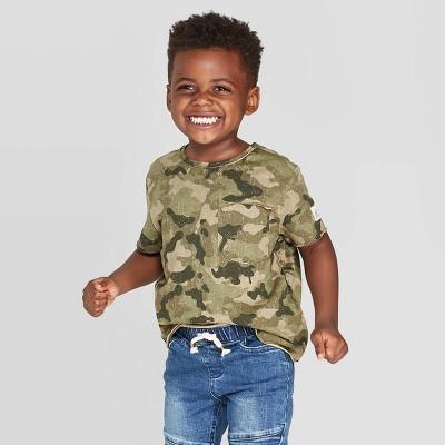 Toddler Boys' Short Sleeve Pocket T-Shirt - art class™ Camouflage 3T