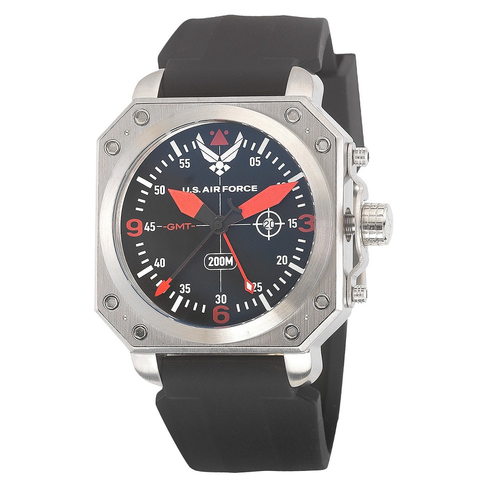 Men's Wrist Armor U.S. Air Force C4 Swiss Quartz GMT Watch - Black, Men's, Size: Small