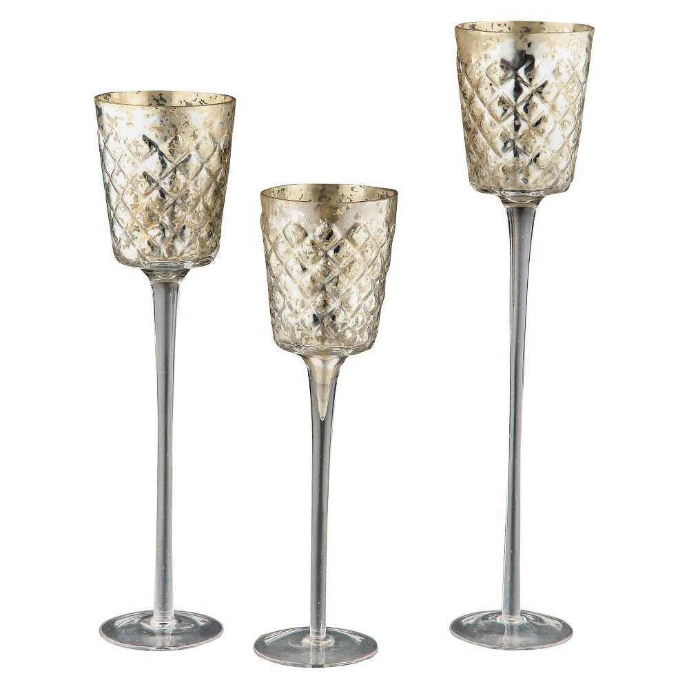 Image of 3pc Votive Candleholder Set - Diamond Star
