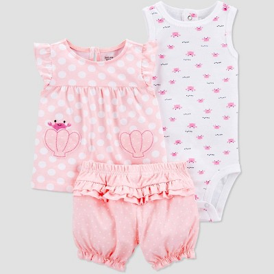 Baby Girls' Seashell Top & Bottom Set - Just One You® made by carter's Light Pink 6M