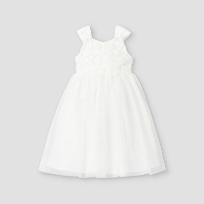 Mia & Mimi Toddler Girls' Floral Lace Tank Dress - White